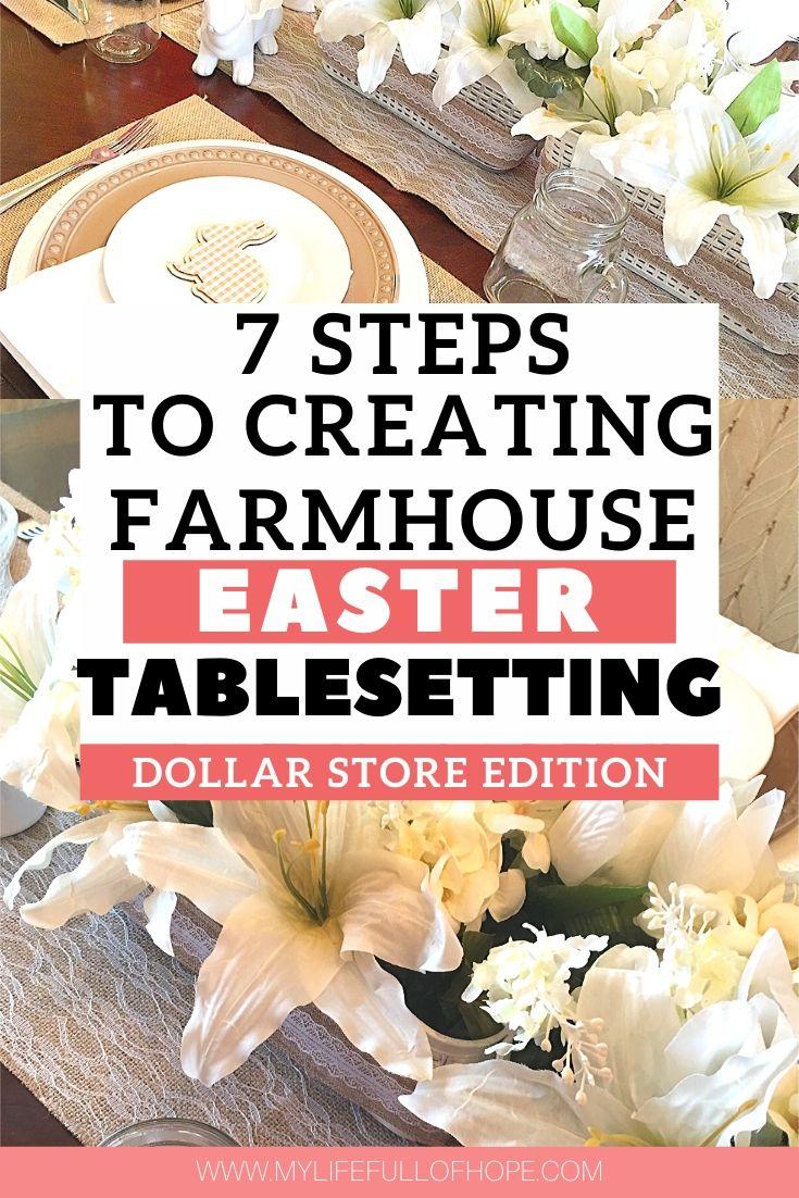 Easter Rustic Farmhouse table setting decor