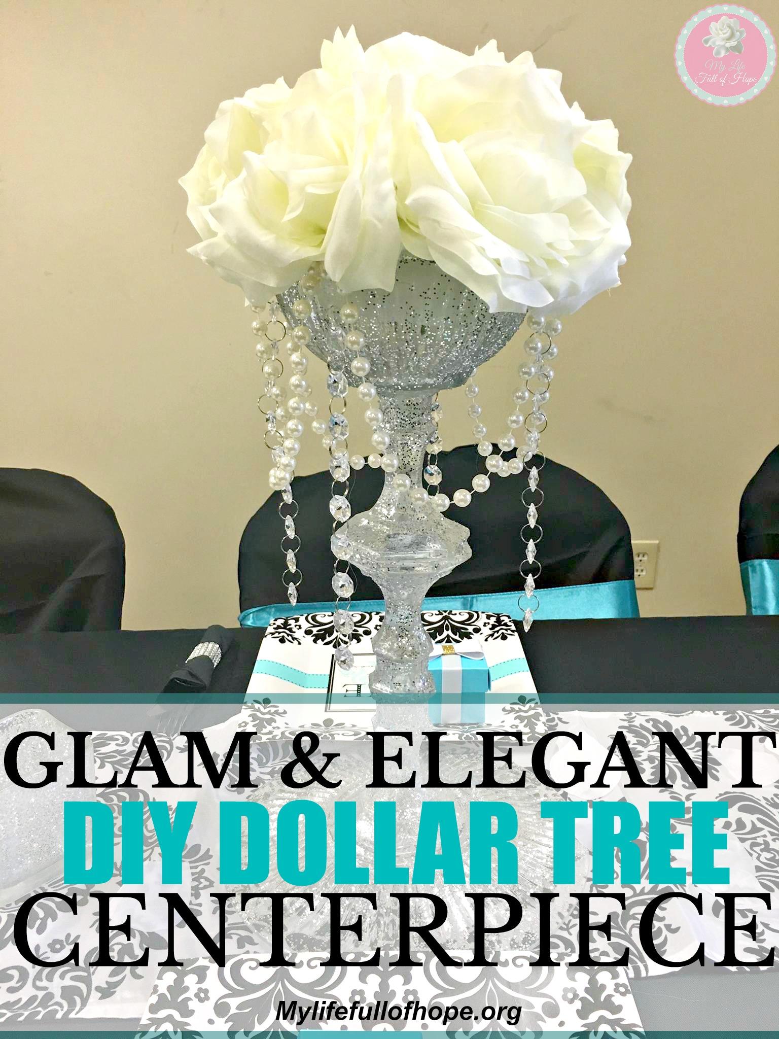 Glam Elegant Dollar Tree Centerpiece Weddings Anniversary