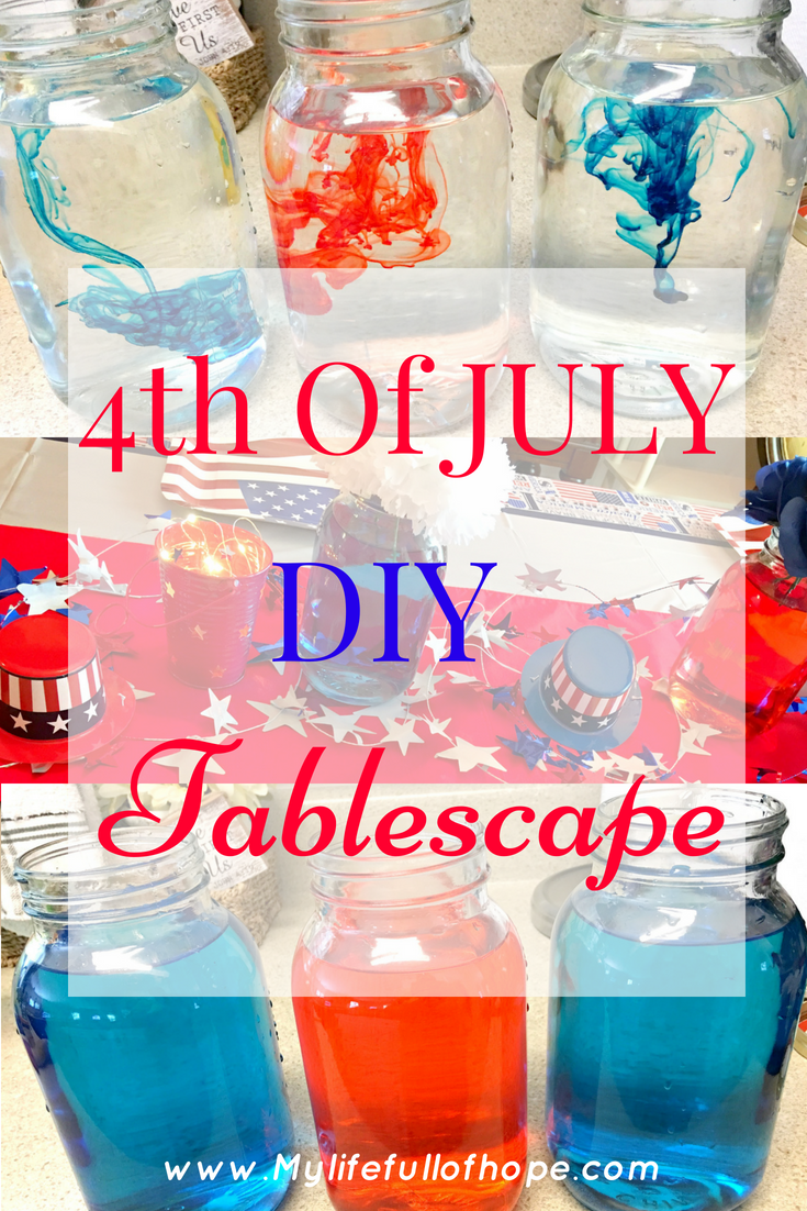 Easy 4th of July Dollar Tree Tablescape on a Dollar Tree budget