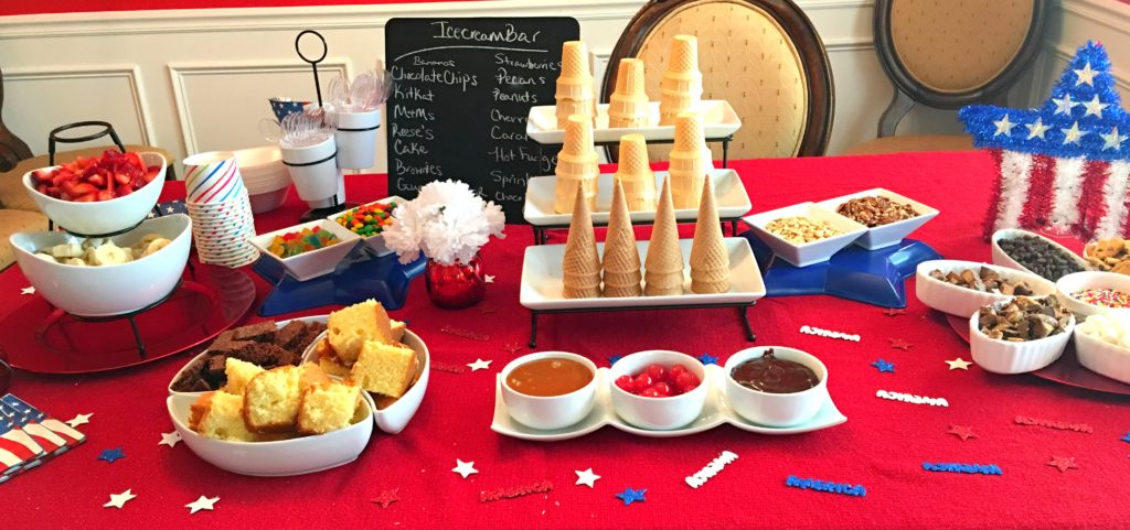 Ice Cream Bar Party Ideas 4th Of July Any Party