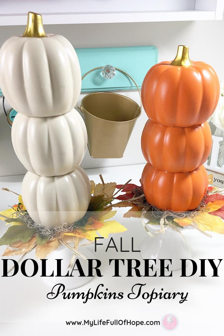 Fall Dollar Tree Diy Pumpkin Topiary