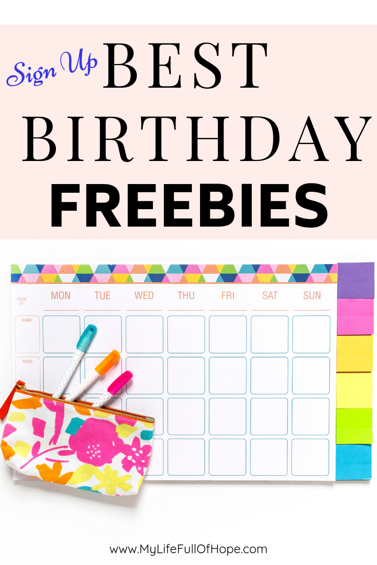 Top and best birthday freebies to get on your birthday