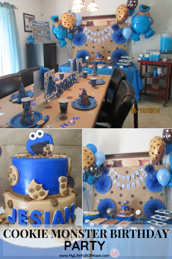 Cookie Monster birthday Party and 1st birthday on a budget