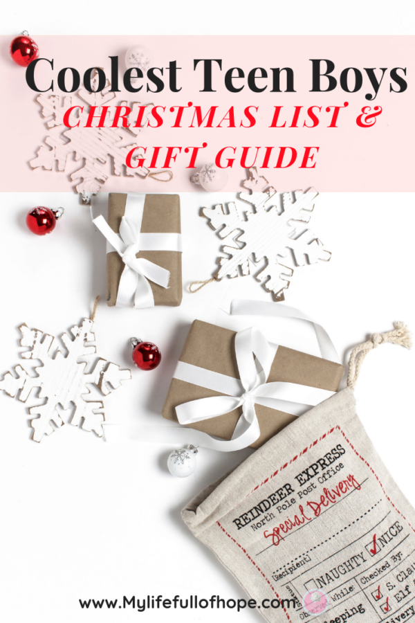 Coolest Teen Boys Christmas List ~ Gift Guide - MyLifeFullOfHope
