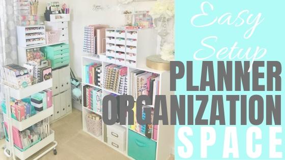 Easy planner organization setup