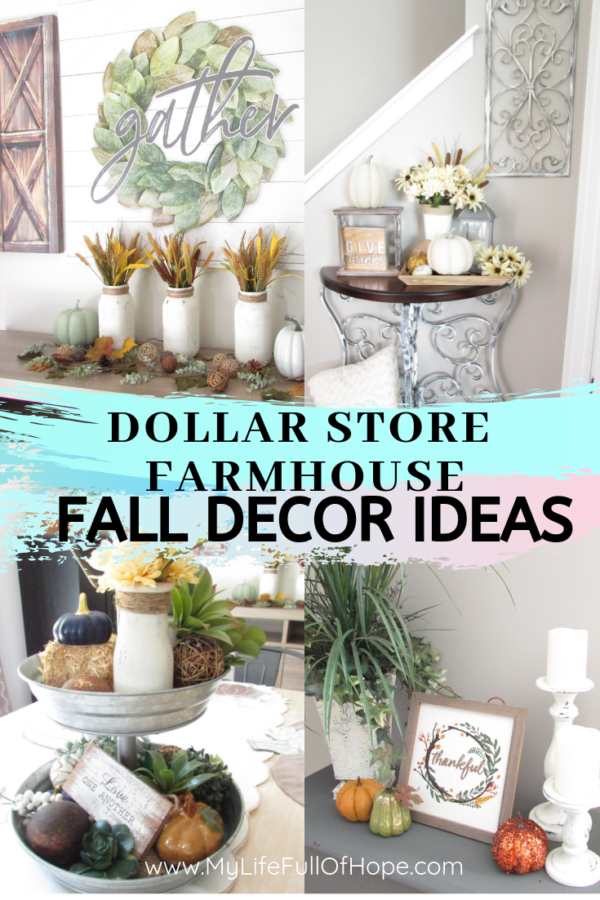 Dollar Store Farmhouse Fall Decor Ideas Mylifefullofhope