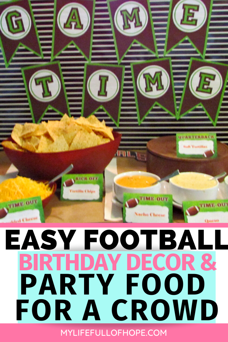 Football birthday party ideas also for kids parties and superbowl ideas