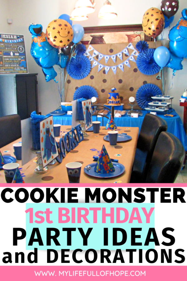 Cookie Monster 1st birthday party ideas, DIY and decorations