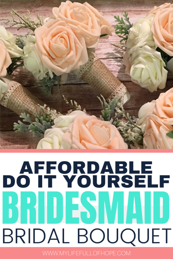 Afforable DIY Bridemaid bridal Bouquet