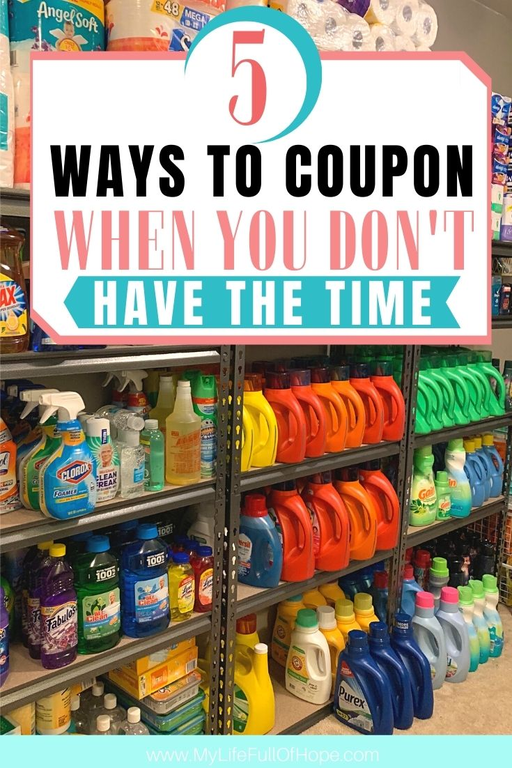 Ways to coupon when you don't have the time