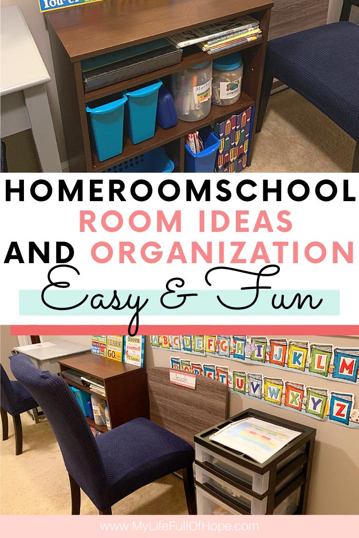 Virtual school homeschool work space for learning