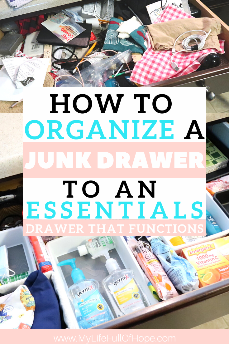 How to organize a junk to an essentials drawer