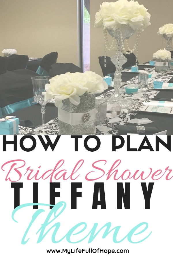 How to plan bridal shower Tiffany theme