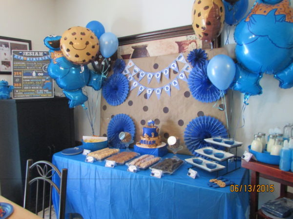 Cookie Monster Birthday Party Ideas Cake table