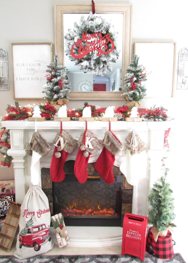 Creating a rustic and traditional Christmas mantle is easy to decorate for the holiday season. Tip on how to create this look on your own.
