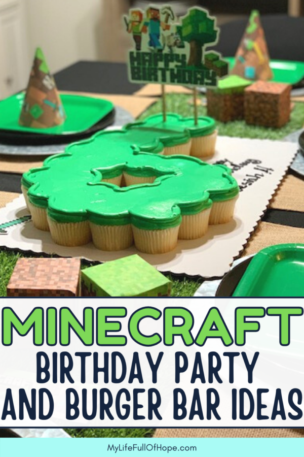 Minecraft birthday party and burger bar ideas