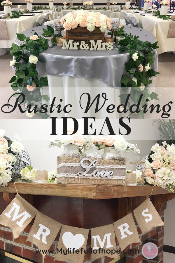 Rustic Wedding Ideas for indoor wedding and custom DIY on a budget