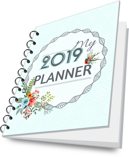 2019 6 months planner with meal plan