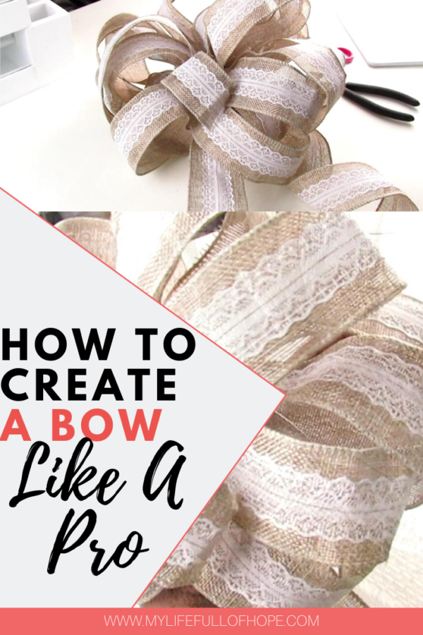 How to create a bow for wreaths, weddings, wedding pews, christmas tree toppers, swags like a pro