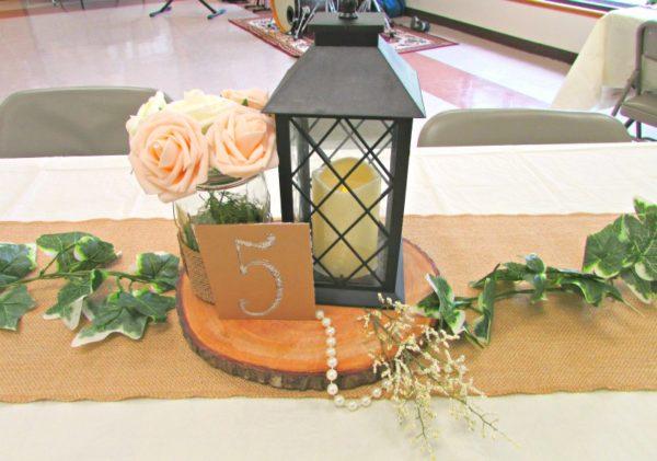Rustic wedding Table Numbers Custom