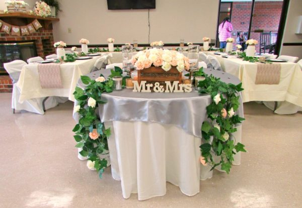 Bride and Groom Table for Rustic Wedding
